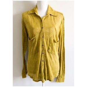 Free People Button Down Cardigan Sweater Sz Small